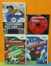 Snowboarding Bowling Tiger Woods Fooseball Nintendo Wii Sports Game Lot Tested