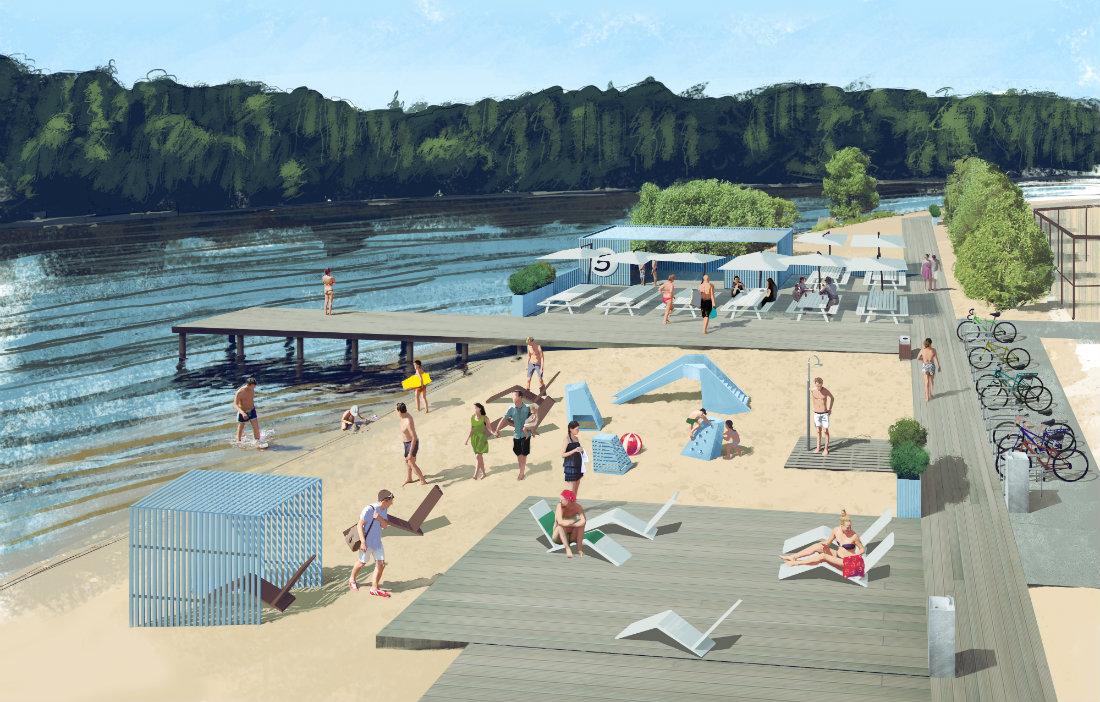 Проект пляжа на реке