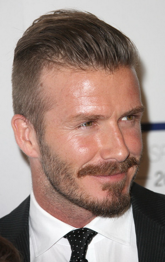 David beckham new hairstyle april 2012
