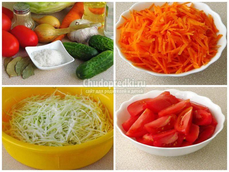 Салаты из огурцов и капусты на зиму: золотые рецепты с фото