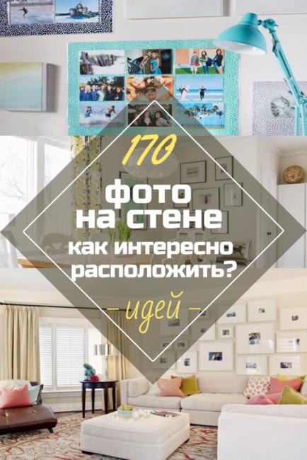 Как повесить фотографии на стену красиво без рамок