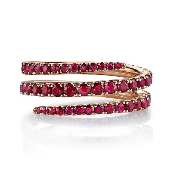 Ruby pinky ring