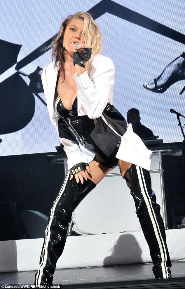 Fergie thigh high boots