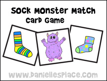 Sock Monster Game Cards
