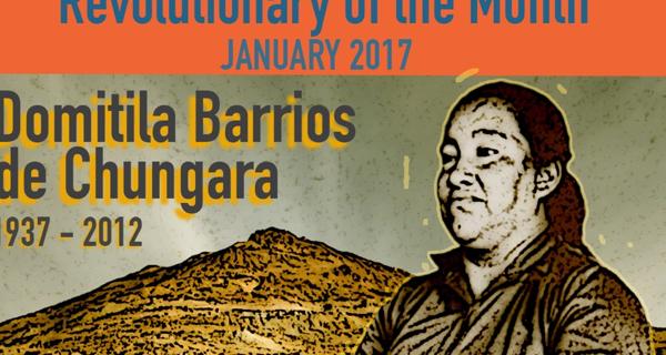 Revolutionary of the Month, Jan 2017 - Domitila Barrios de Chungara