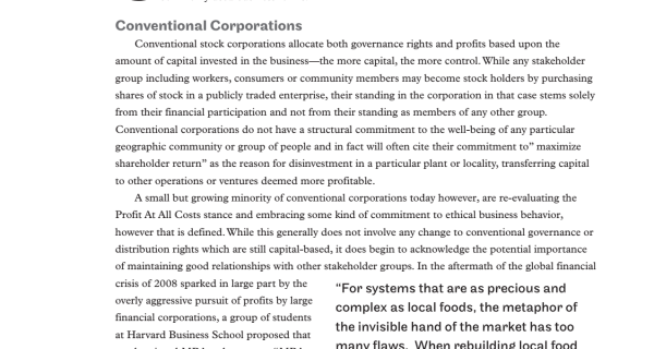 An extract about legal categories of cooperative business.