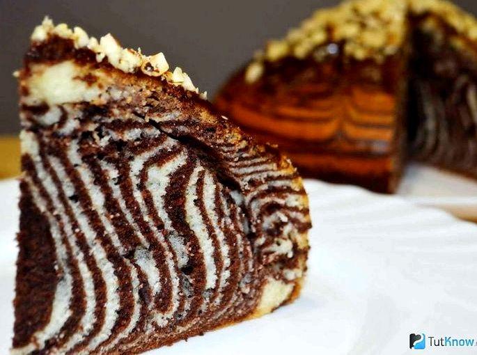 Торт зебра классический
