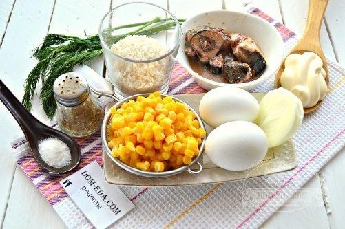 Салат с тунцом с рисом рецепт