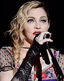Madonna performing