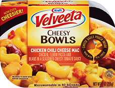 Image of Velveeta Cheesy Bowls Chili Cheese Mac