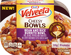 Image of Velveeta Cheesy Bowls Bean and Rice Burrito Bowl