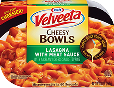 Image of Velveeta Cheesy Bowls Lasagna with Meat Sauce