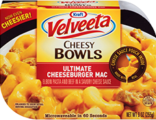 Image of Velveeta Cheesy Bowls Ultimate Cheeseburger Mac