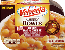 Image of Velveeta Cheesy Bowls Bacon Mac and Cheese