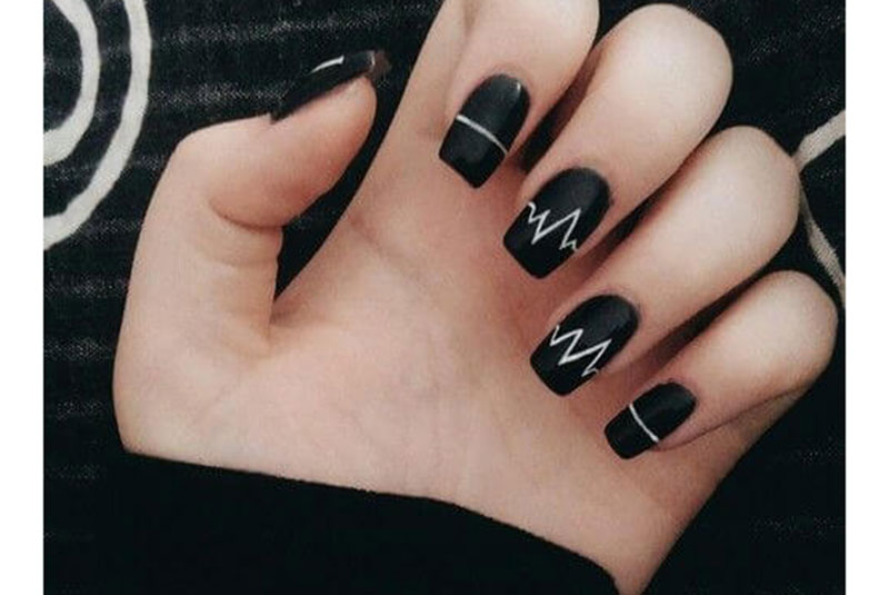 Nails design black