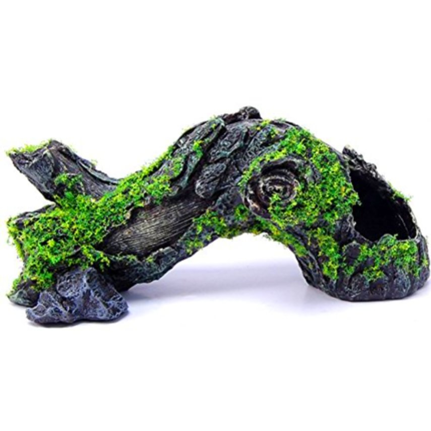 Large aquarium ornament log tree stump hiding cave branch for Aquarium log decoration