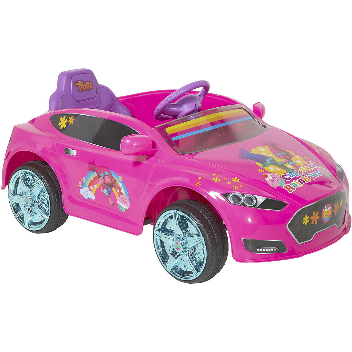 electric cars for kids trolls 6v speed ride on children girls drive game - Cars For Girls To Drive Kids