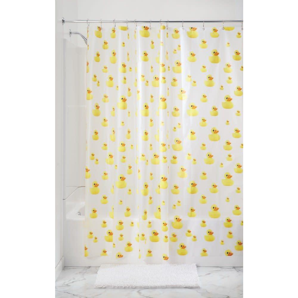 Ducks pvc free peva shower curtain 183 x 183 cm yellow - Pvc shower curtain ...