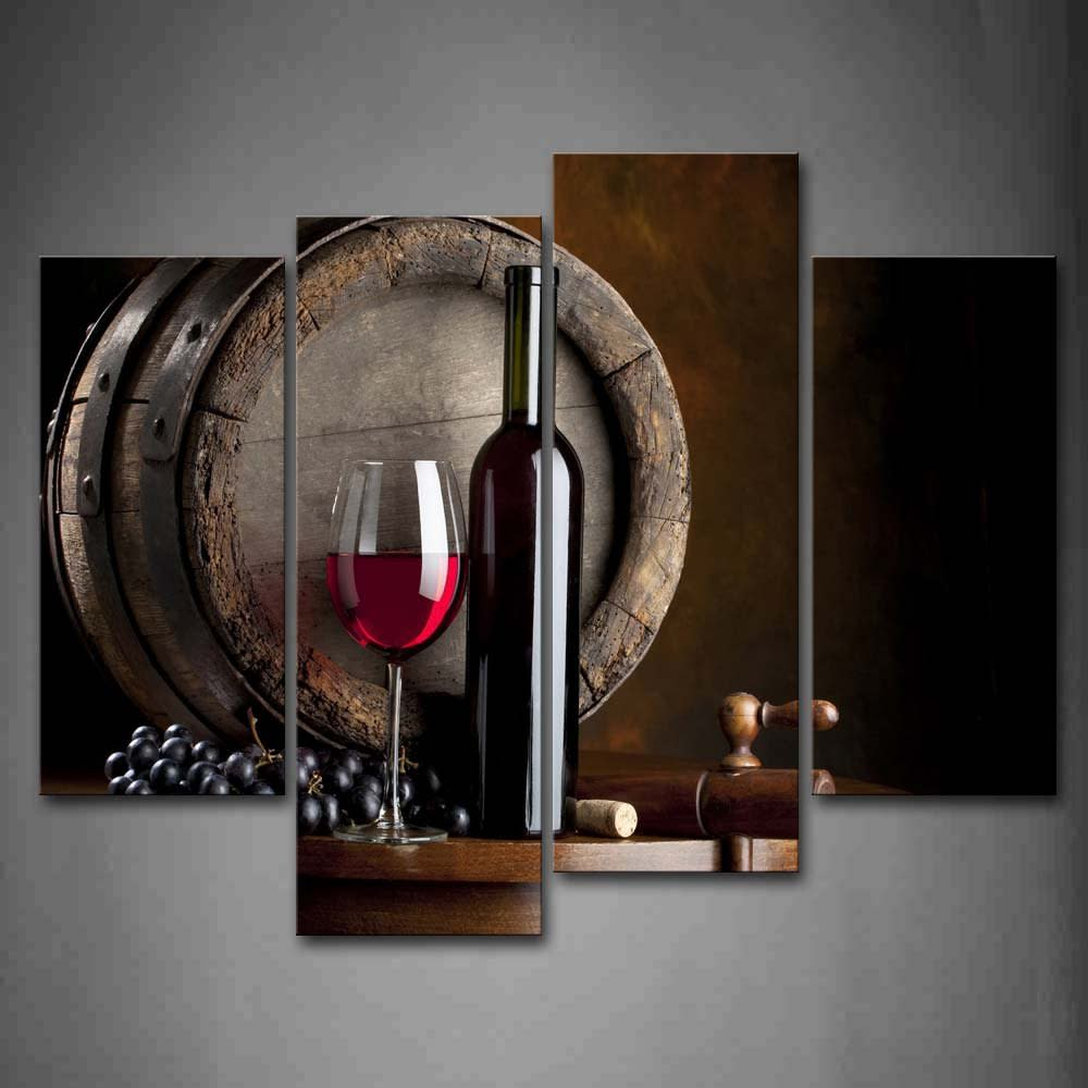 Wine decor dining room - Wall Art Painting Wine Glass Fruit Picture Print Decor Dining Room Kitchen Bar