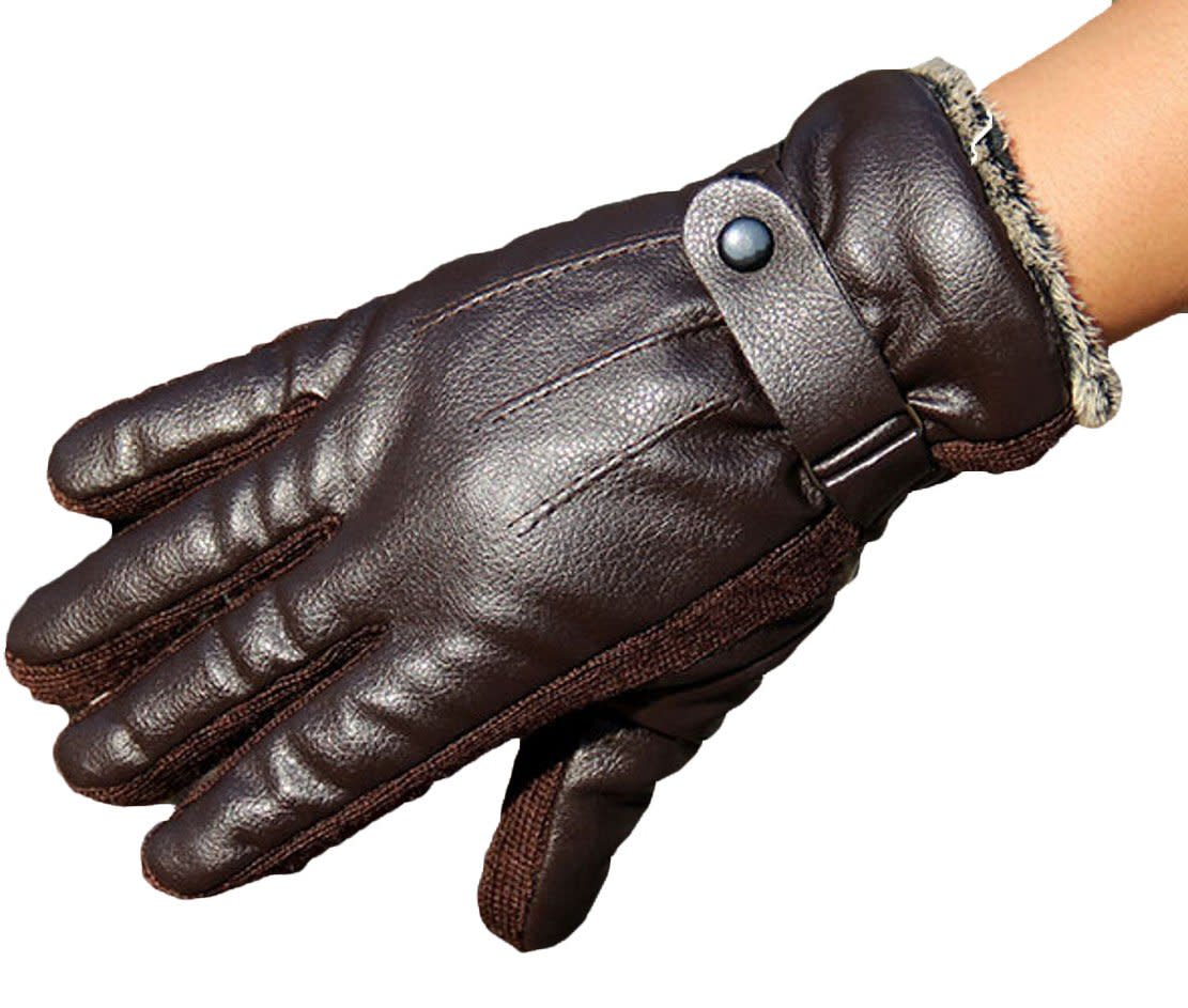 Mens gloves for driving - Soft Direct Men S Winter Pu Leather Gloves Driving Drive Work Motorcycle Glove