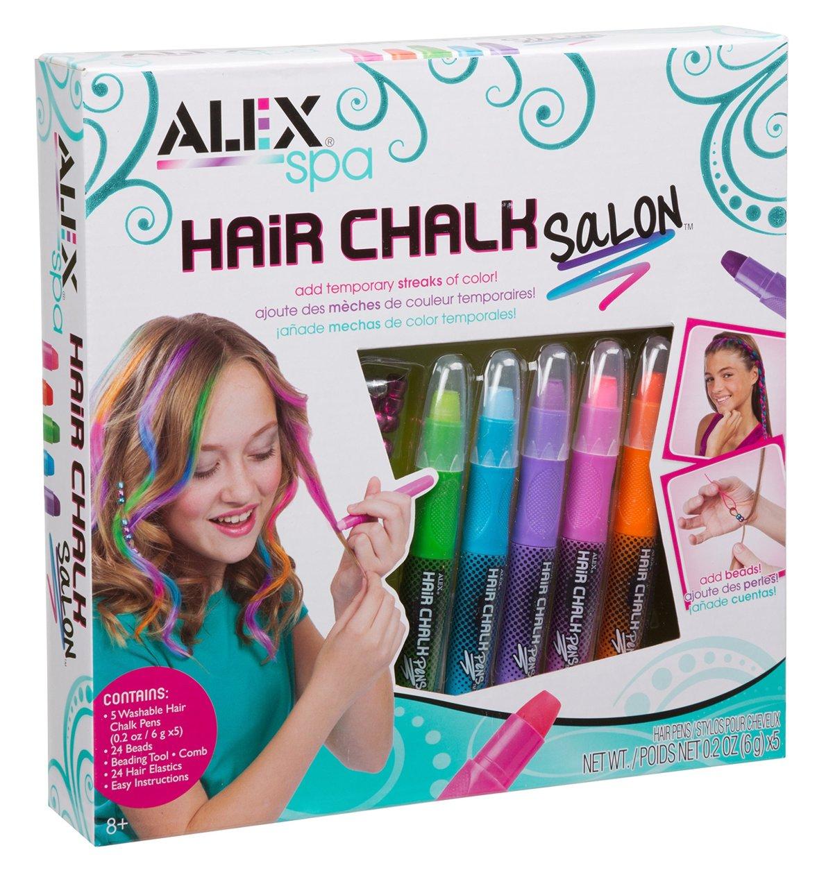 Craft kit for kids - Alex Spa Hair Chalk Salon Toys Craft Kit Kids Girls Children Fun Glitter Fashion