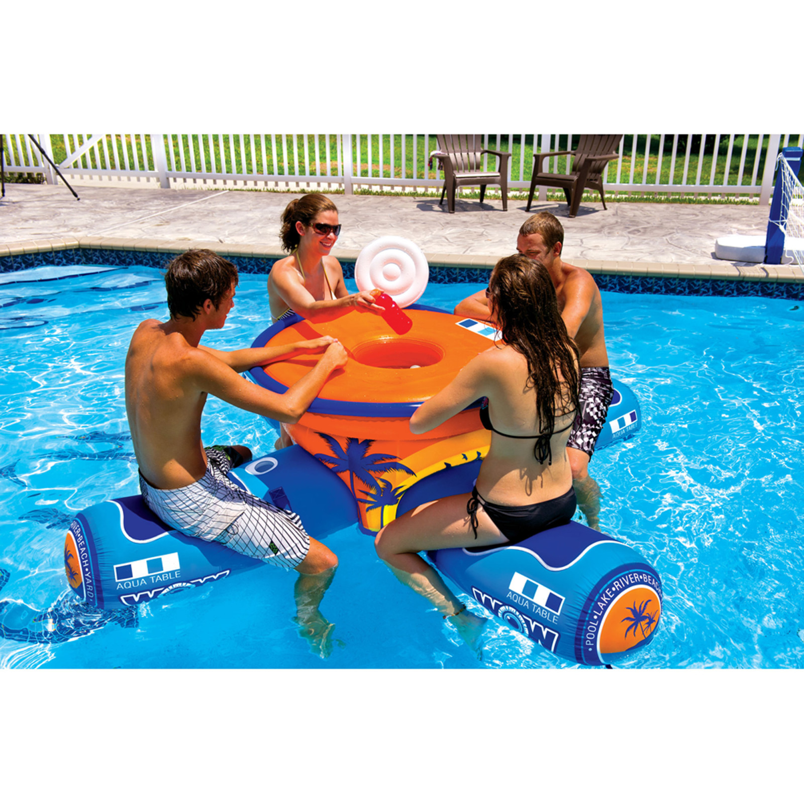 Inflatable Table Wow Table Inflatable Aqua Watersports Floating Picnic 4 Person