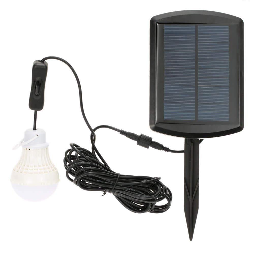 SOLAR Panel RECHARGEABLE 5 LED SHED LIGHT Garden GARAGE