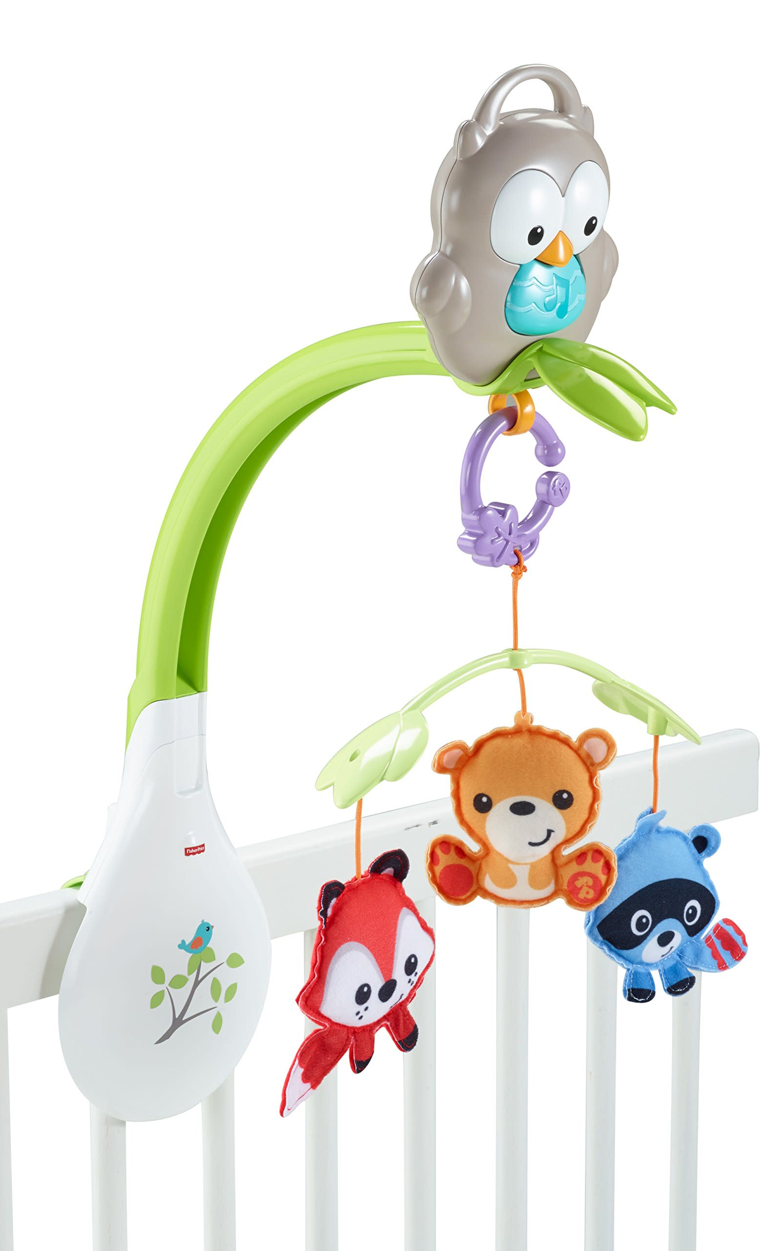 baby musical mobile  in  woodland friends infant crib mounted  - baby musical mobile  in  woodland friends infant crib mountedentertainment