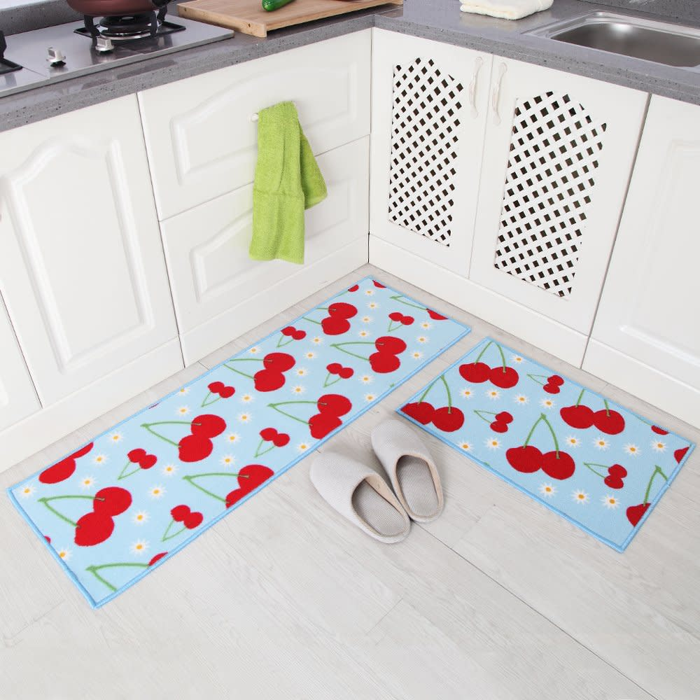 Non Slip Kitchen Floor Mats New 2 Piece Non Slip Kitchen Floor Mat Rubber Backing Runner