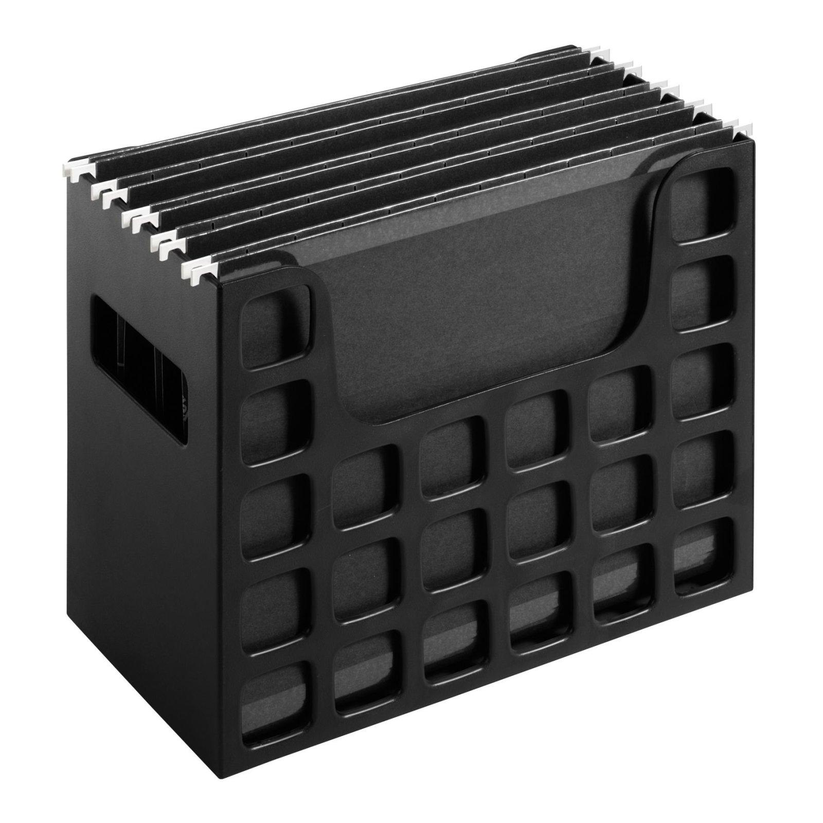 Desktop File Box Hanging Folder Organizer Storage Rack Document
