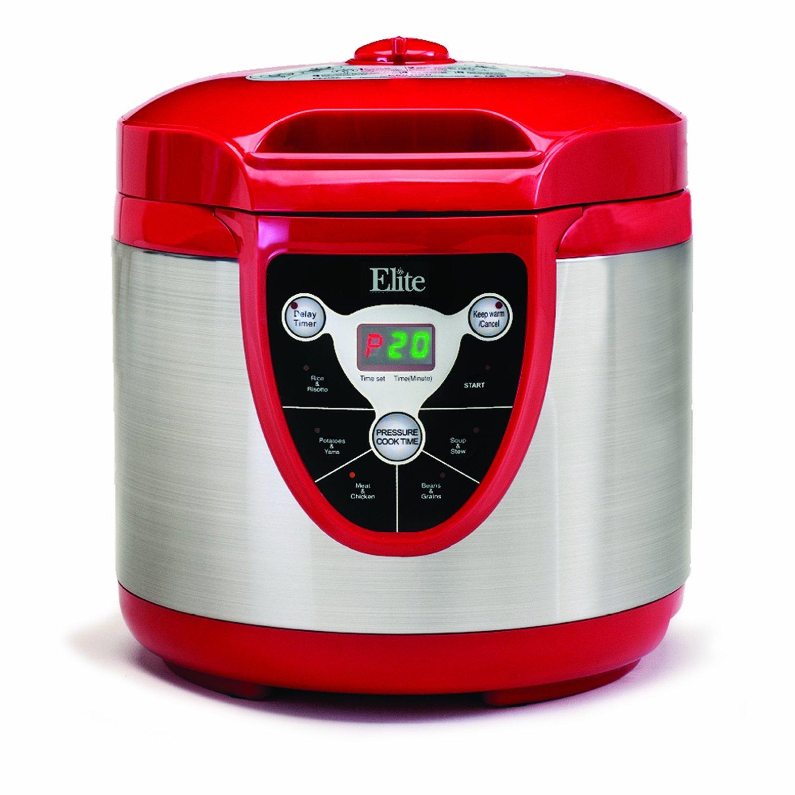 Elite Platinum EPC-607R Maxi-Matic 6 Quart Electric Pressure Cooker, Red
