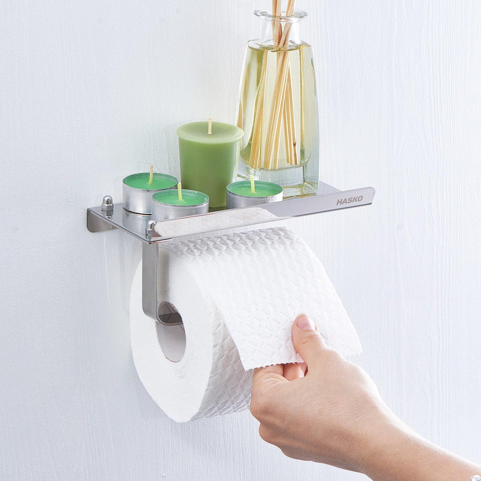 toilet paper holder storage shelf bathroom wall mount tissue roll