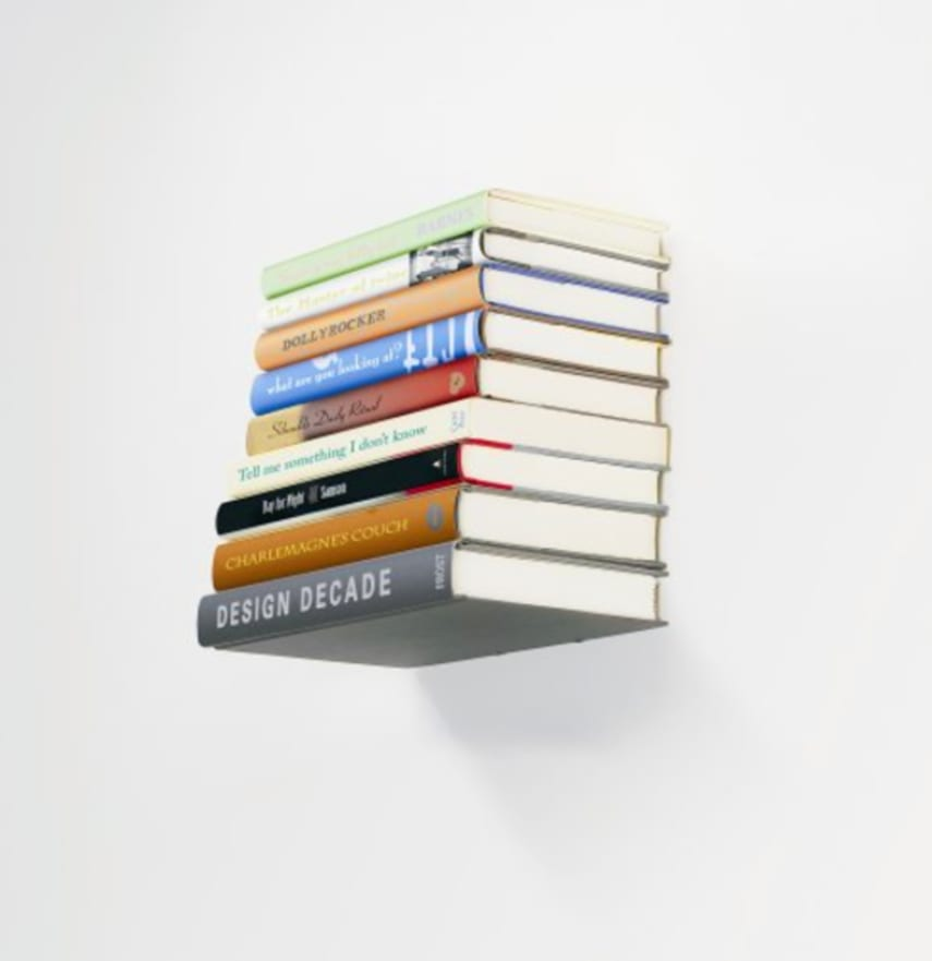 Floating small book shelf wall mount invisible bookshelf How to make an invisible bookshelf