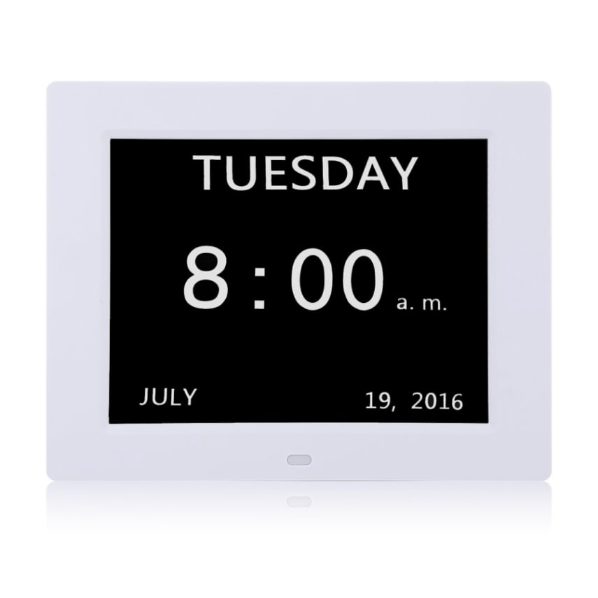 Digital Calendar Day Clock With Large Clear Time Day And