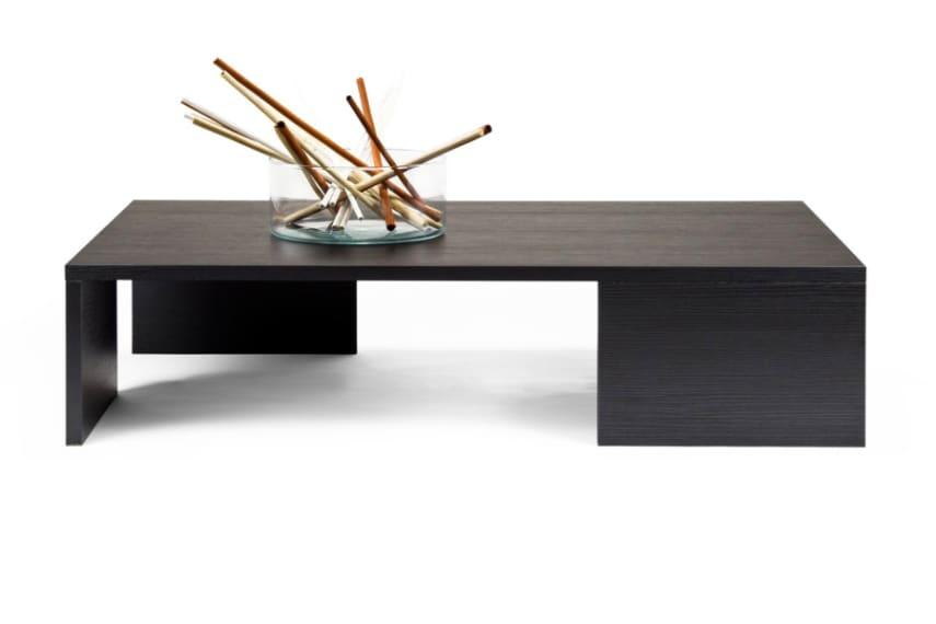 Pine Coffee Table Square Living Room Black Wood 90 X 60 X 21 Cm Ebay
