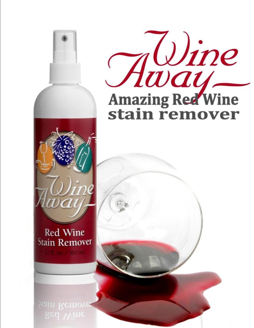 wine away red wine stain remover fresh dried food ink spots spray 12 ounces ebay. Black Bedroom Furniture Sets. Home Design Ideas
