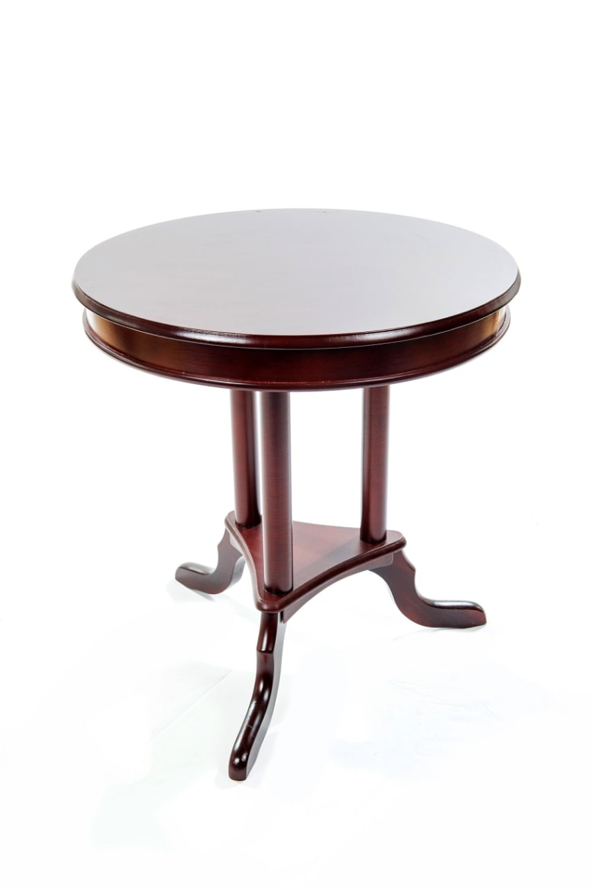 wood round wooden end table accent side tables living bedroo