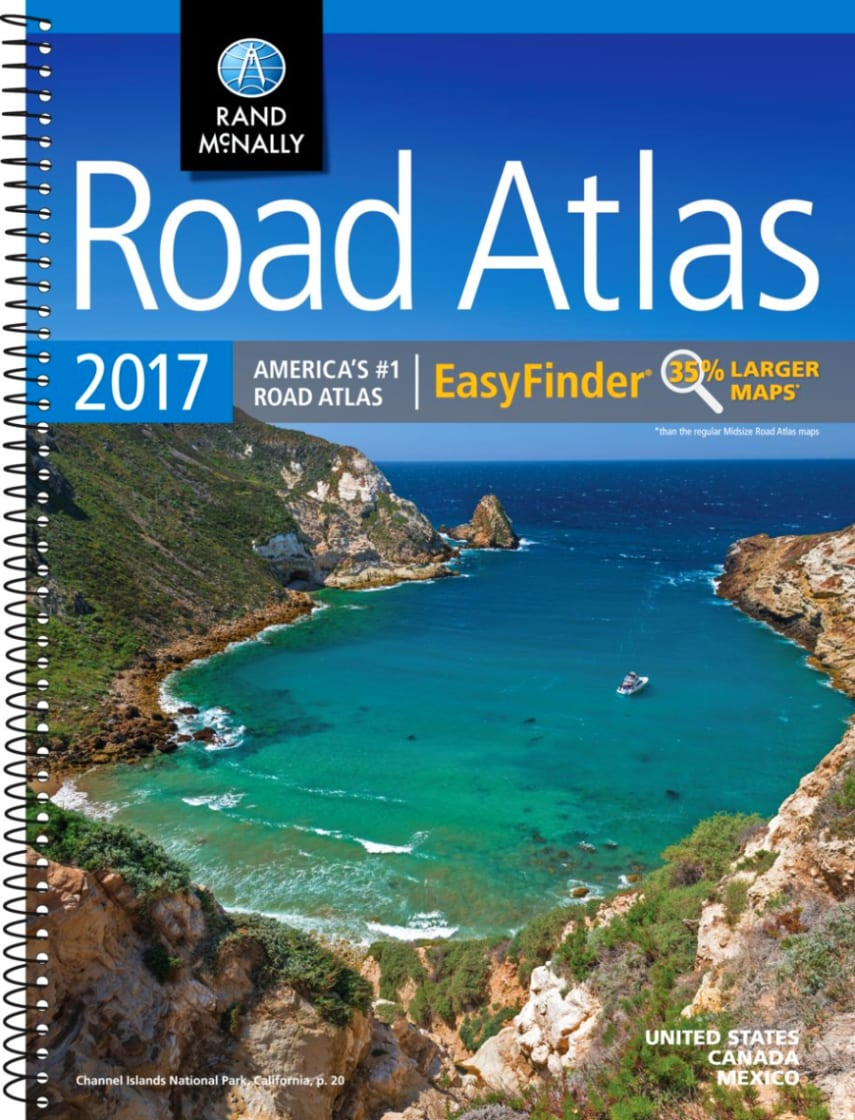 Rand McNally Road Atlas United States  YouTube Political Road - Usa road map california