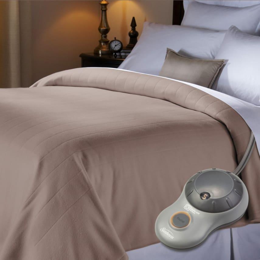 Electric Heated Blanket Fleece Soft Warmth Comfort Washable Twin ...