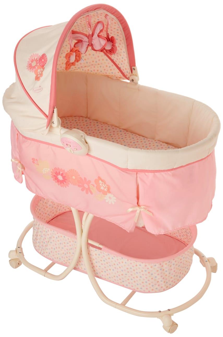 Baby bed newborn - Rocking Crib Nursery Portable Canopy Bassinet Furniture Baby Bed Newborn Girls