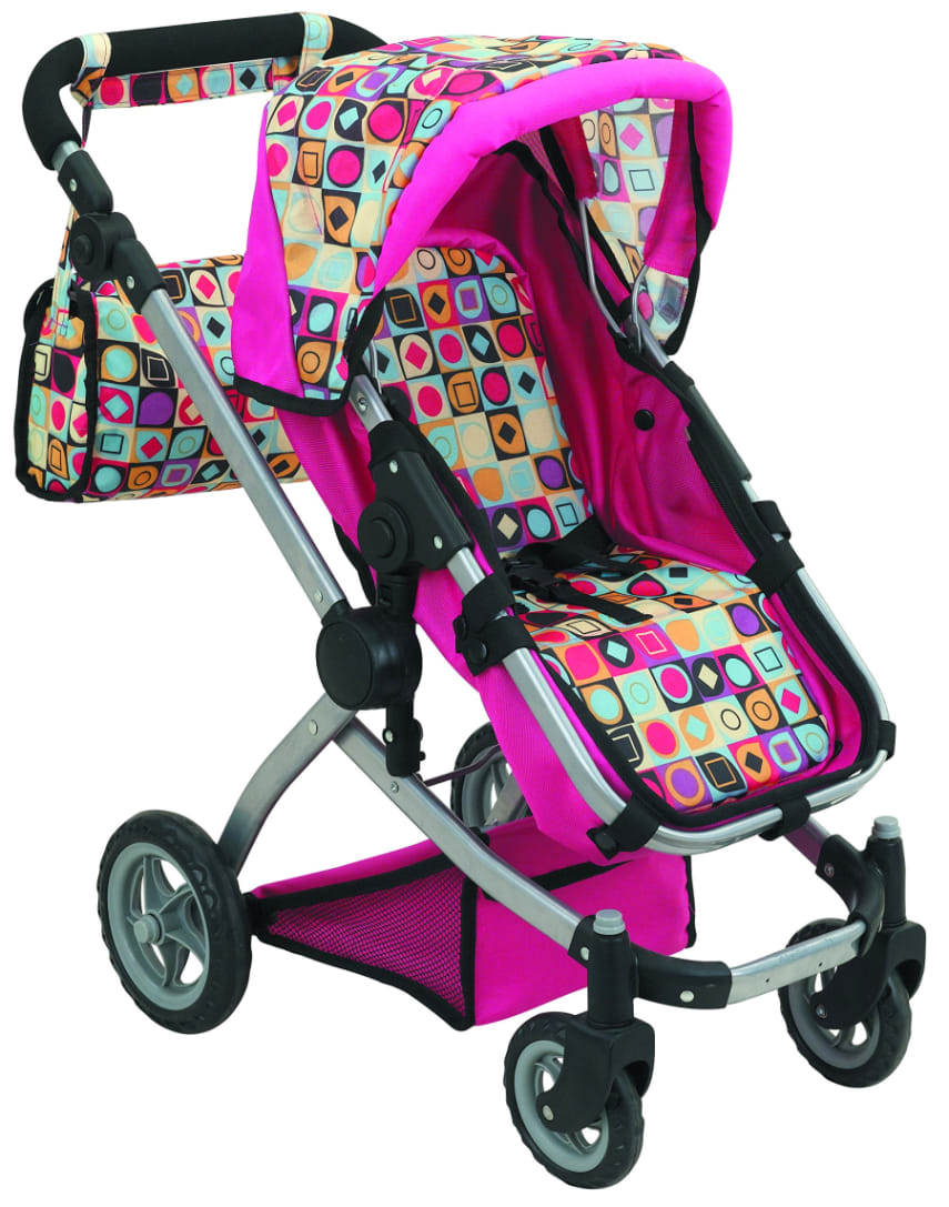Toys For Strollers : Baby doll stroller play set toy for girls pink pretend