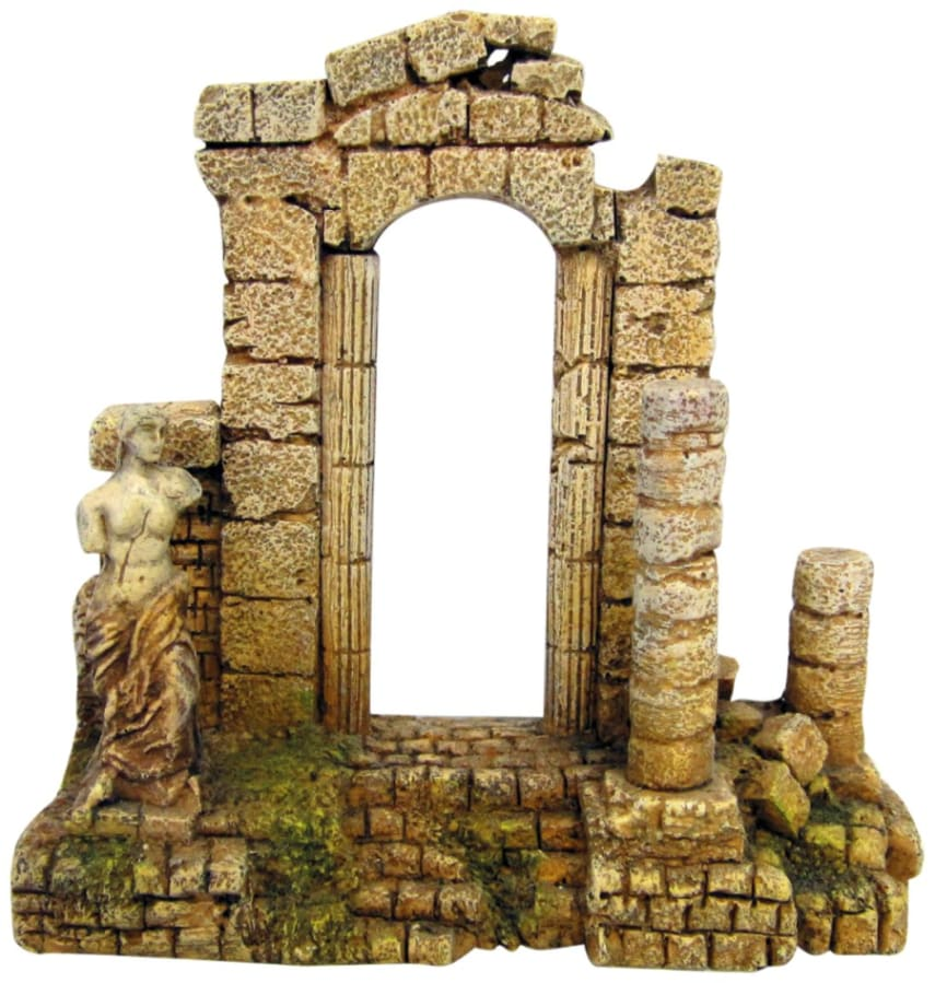 Temple ruin fish tank decoration ancient greek arc for Ancient greek decoration
