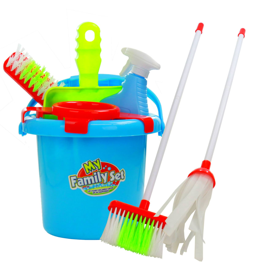 Kids Cleaning Toy Set w/ Pretend Play Broom for ...