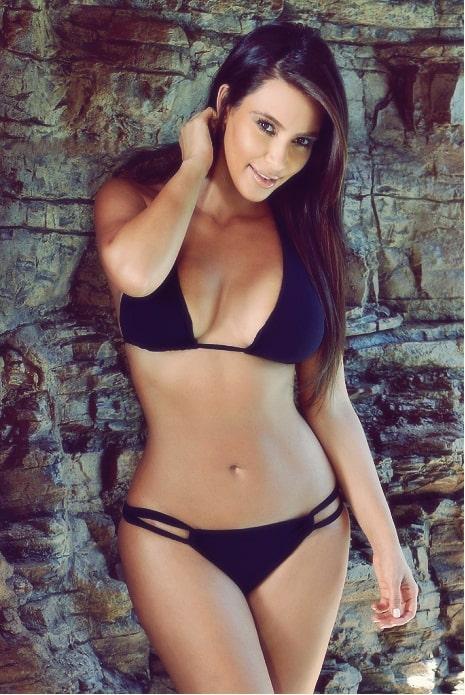 Kim Kardashian on Black Bikini