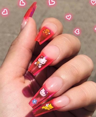Hello kitty nails tumblr