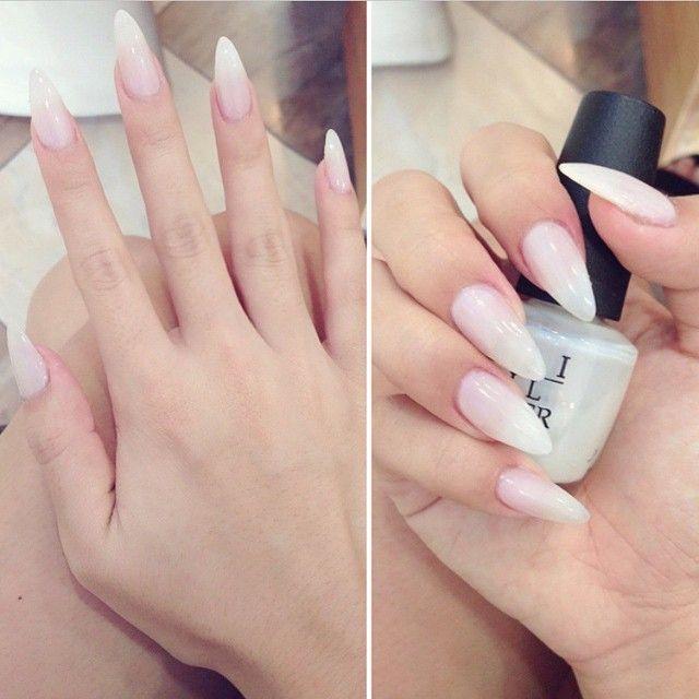 Plain pointy nails
