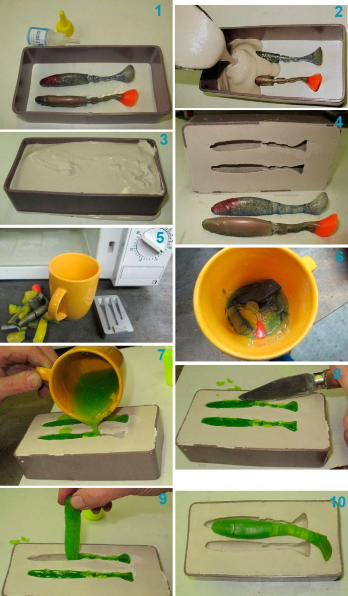 Изготовление приманки из силикона своими руками