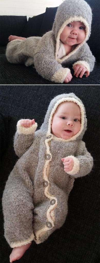 Комбинезоны для малышей вязаные спицами