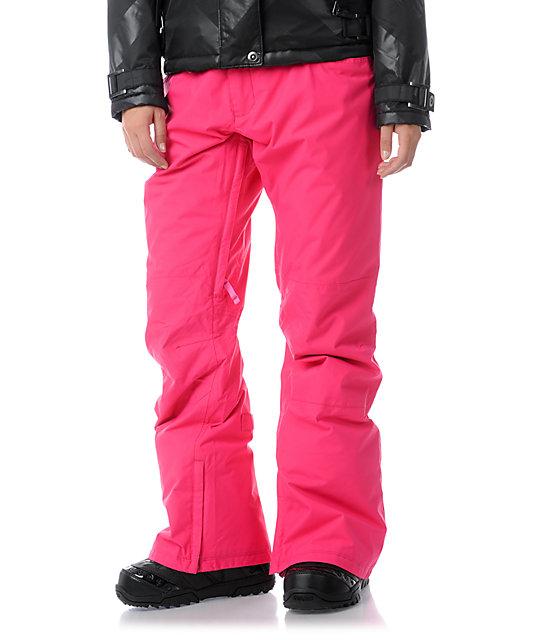 Hot pink burton snow pants