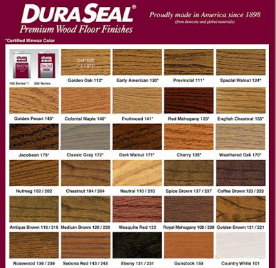 Duraseal wood floor stain